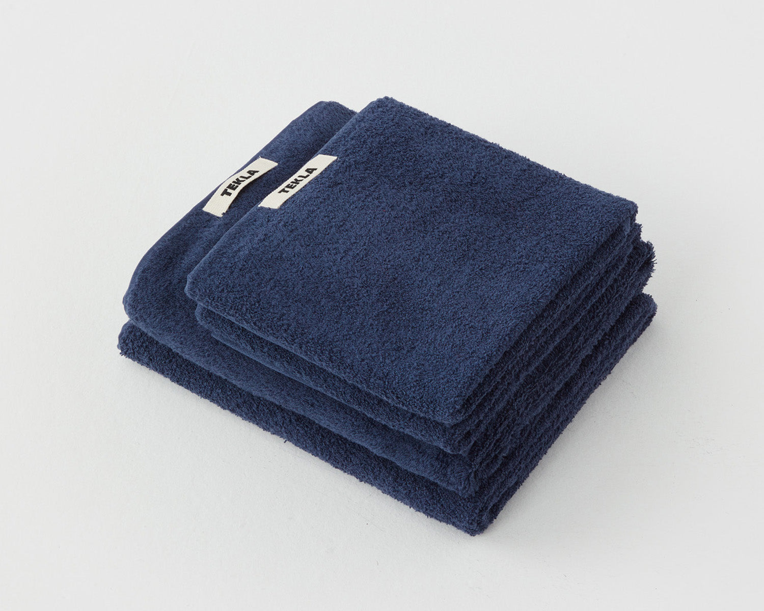 Tekla Organic Cotton Towel - Navy