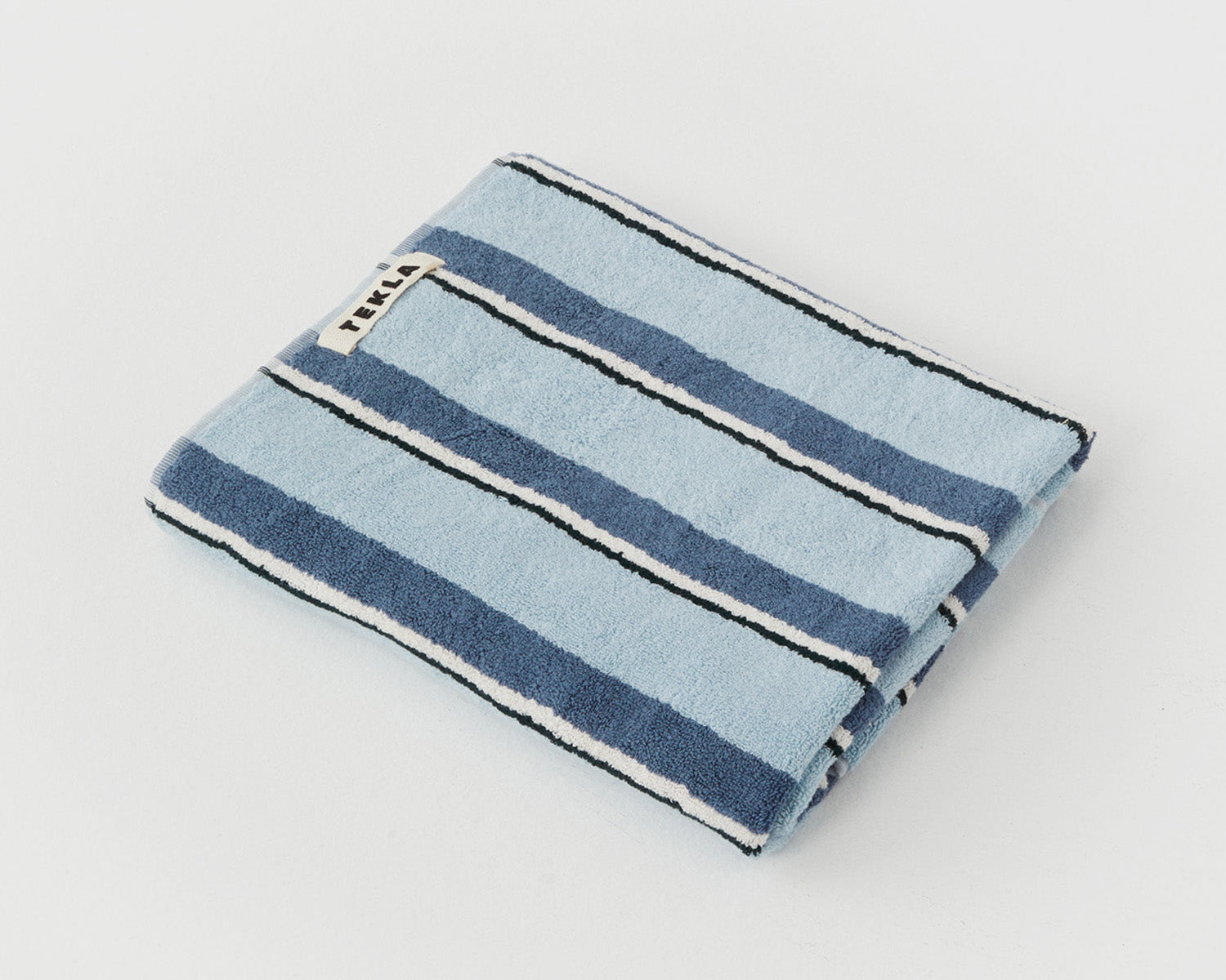 Tekla Organic Cotton Towel - Seventies Blue