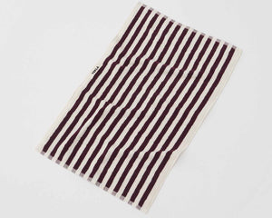 Tekla Organic Cotton Towel - Plum Stripes