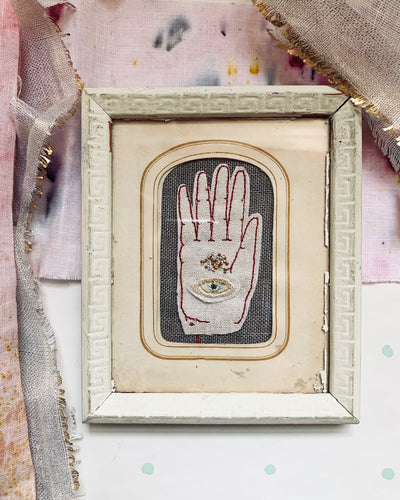 Sacred Hand, Framed Embroidery