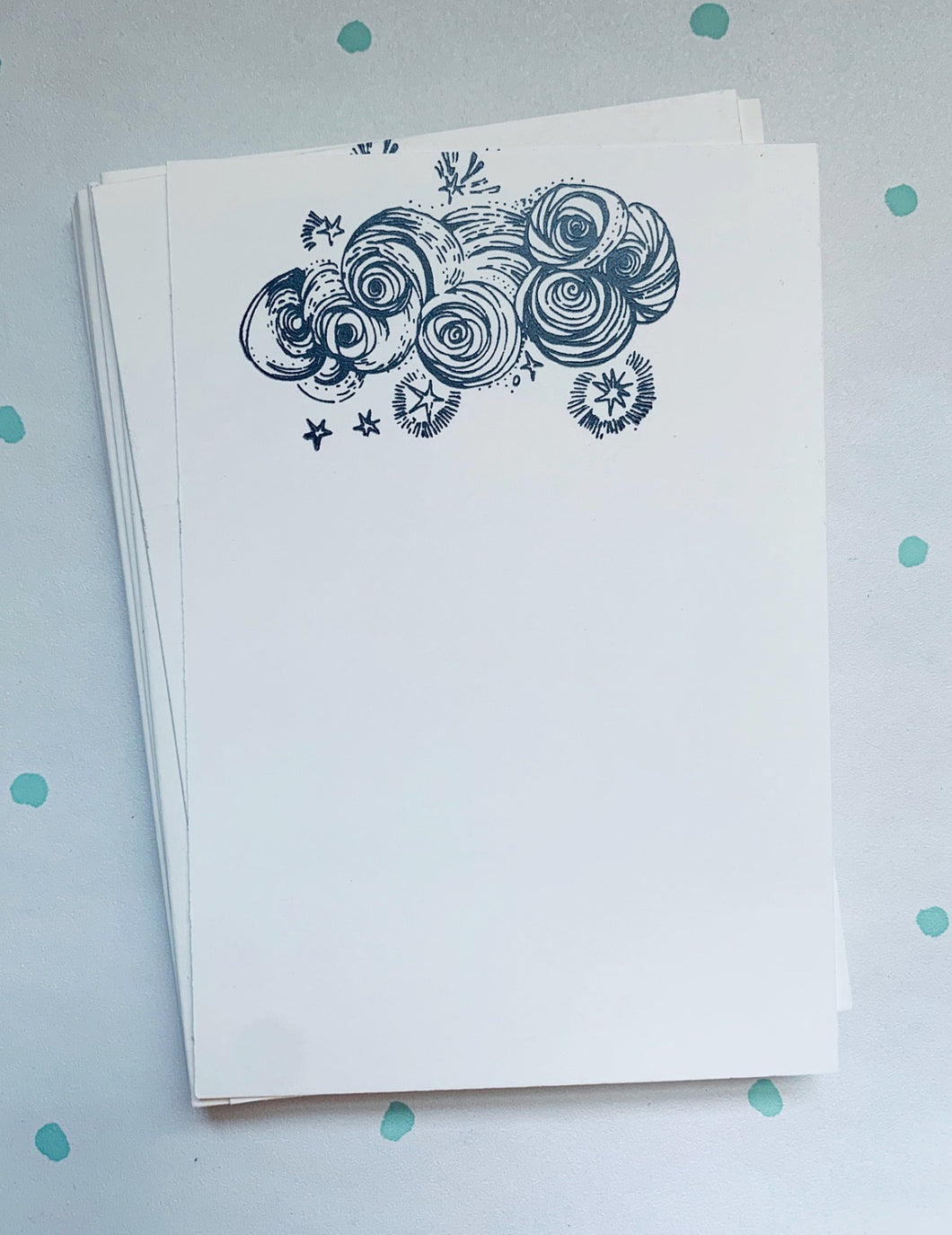 Cozy Storm Clouds, Stationery Set