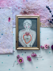 Passionate Heart Framed Embroidery