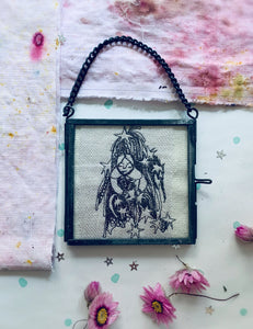 Tiny Star Child, Free Motion Embroidery