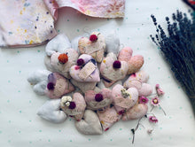 Load image into Gallery viewer, Botanically Dyed XO Hearts, Lavender Scented