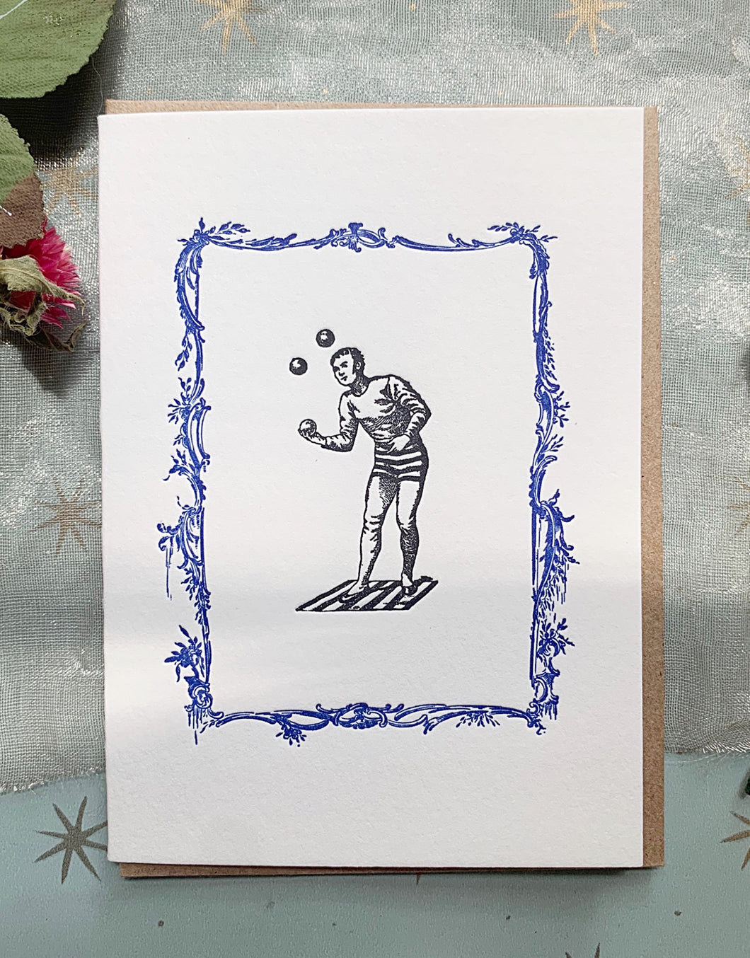 'Juggler' Single Greeting Card