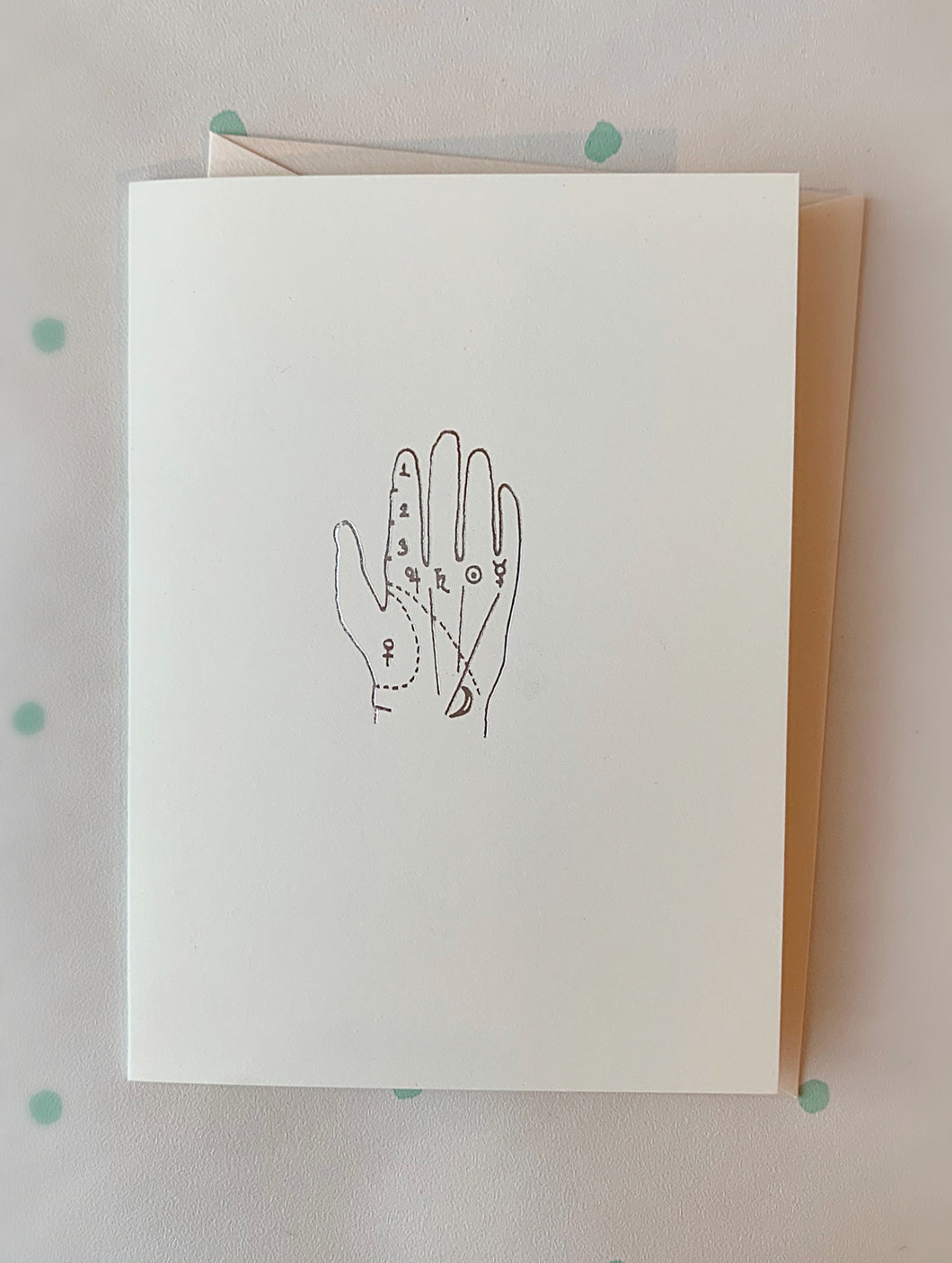 Palmistry Hand, Single Folded Card