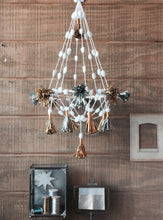 Load image into Gallery viewer, Metallic Paper Tassel Chandelier