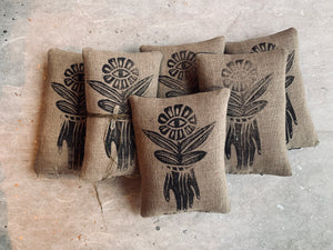 Block Printed Sachets of Cedar
