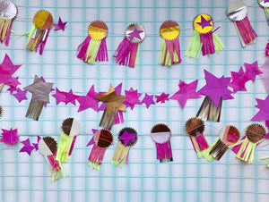 Parcel Stitched Shooting Star Garland