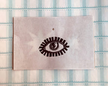 Load image into Gallery viewer, Evil Eye, Lino Print