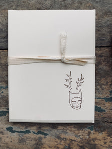 Forest Spirit, Foil Pressed Stationery Set (Made to Order)