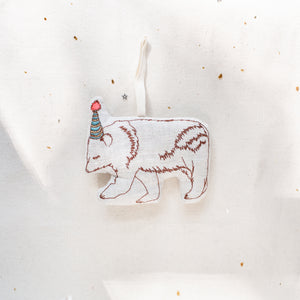 Party Bear, Lavender Ornament