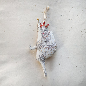 Dancing Jester, Lavender Ornament/Wallhanging