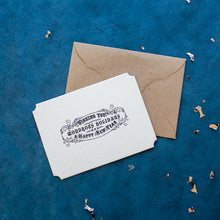 Load image into Gallery viewer, Hand Letterpressed 'Wishing you a Wondrous Holiday' Card