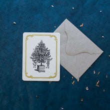 Load image into Gallery viewer, Hand Letter-pressed Christmas Tree Card