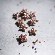 Load image into Gallery viewer, Soft Shimmering Pink Bullion Stars