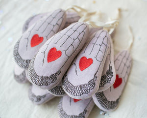 Heart in Hand, Lavender Ornament