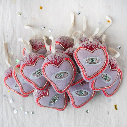 Sacred Heart, Lavender Ornament