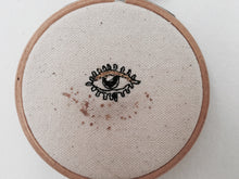 "Load image into Gallery viewer, READY TO SHIP, 3"" Machine Embroidered Evil Eye, Embroidery Hoop"