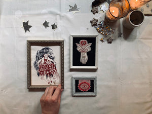 I Can Fly, Framed Machine Embroidery
