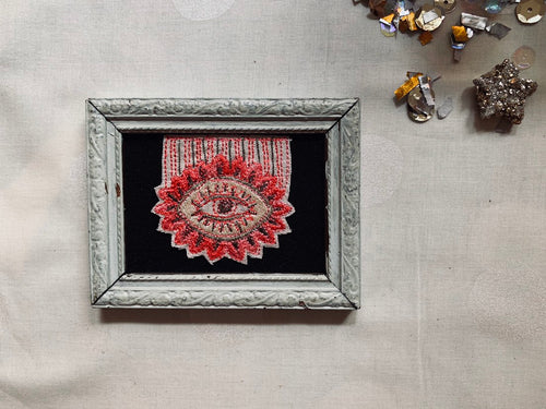 Eye on the Prize! Small Framed Embroidery
