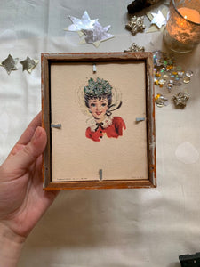 Buffy's Hand, Victorian Inspired Embroidery, Framed, READY TO SHIP