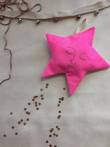 Neon Star, Lavender Ornament