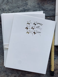 Foil Dipped Stars, Foil Pressed Stationery Set