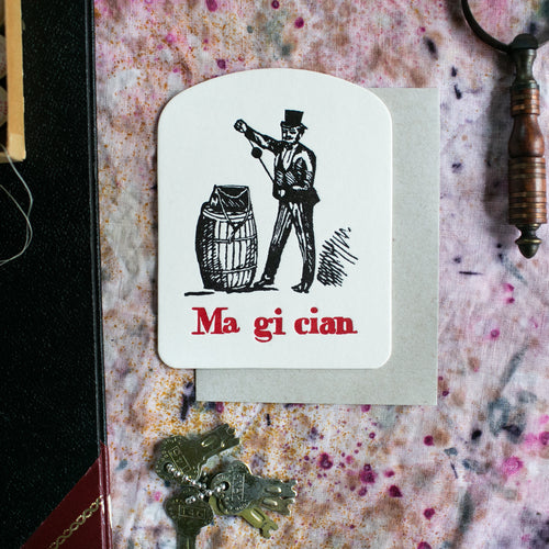 'Magician' Single Greeting Card