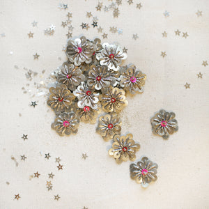 Silver/Light Pink Sequin Stars