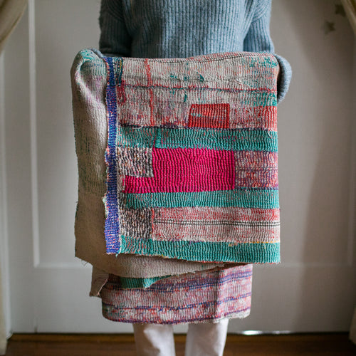 Vintage Kantha Throw 2/11