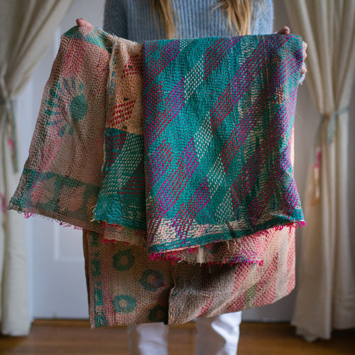 Vintage Kantha Throw 9/11