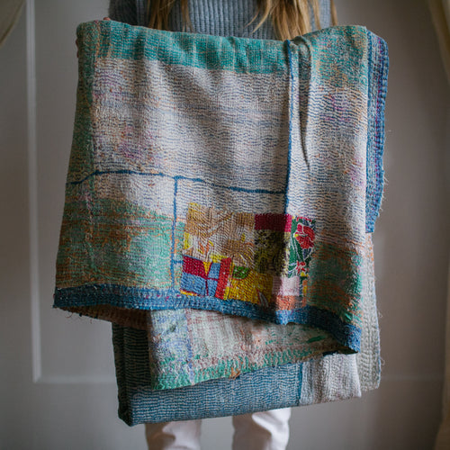 Vintage Kantha Throw 11/11