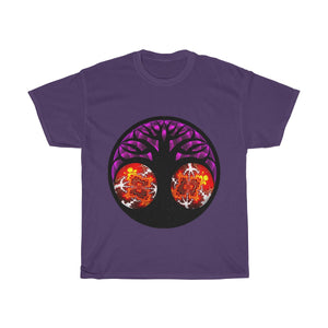 Tree of Life w/ Flower of Life & Fractals Unisex Tshirt - Shift+Alt+Paradigm Metaphysical Style & Supply