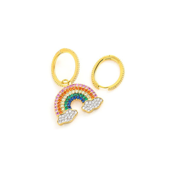 Womens Jewelry Rainbow Earrings New Trendy Lucky Jewelry for Music Festival. - Shift+Alt+Paradigm Metaphysical Style & Supply