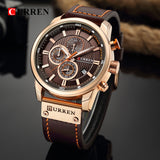 CURREN Luxury Fashion Leather Quartz Men's Watch. - Shift+Alt+Paradigm Metaphysical Style & Supply