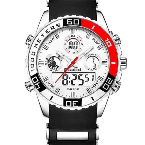 Smael Dual Timezone Waterproof Military Digital Quartz Men's Quarts Watch. - Shift+Alt+Paradigm Metaphysical Style & Supply