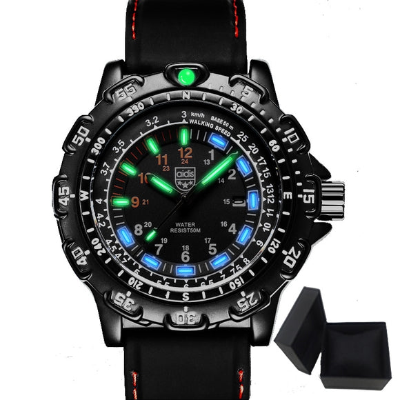New Tactical Military Aidis Watch W/ New Glow Technology - Bright Illumination. - Shift+Alt+Paradigm Metaphysical Style & Supply