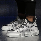 Designer Hip Hop Mens Casual Shoes High Top Sneakers Basket Ball - Shift+Alt+Paradigm Metaphysical Style & Supply