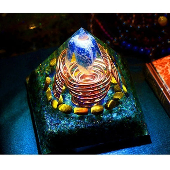 Amazing Orgonite Large Pyramid High Frequency Austrian Spiritual Energy Tower - Shift+Alt+Paradigm Metaphysical Style & Supply