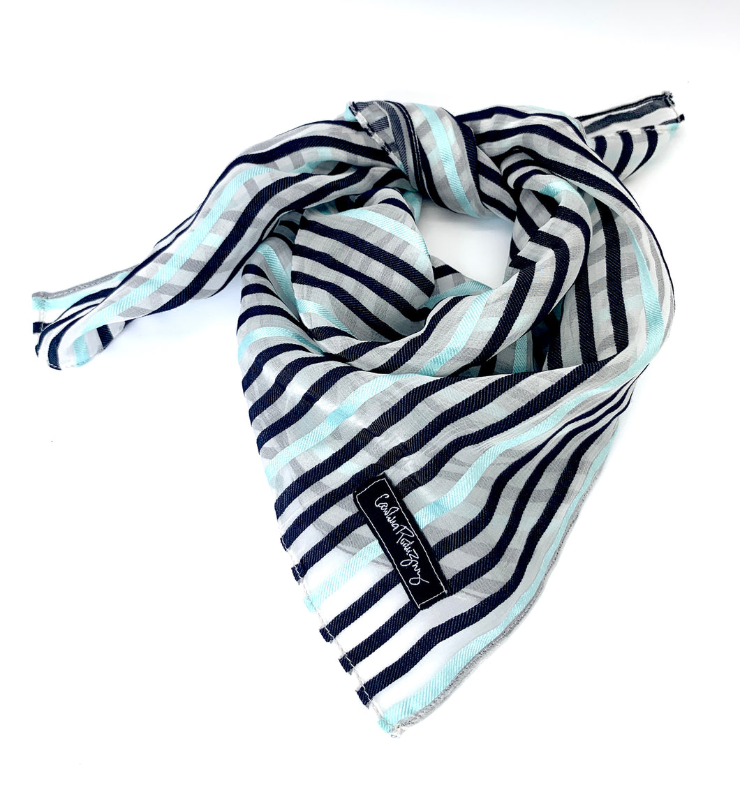 Jacqueline Blue Stripes Scarf