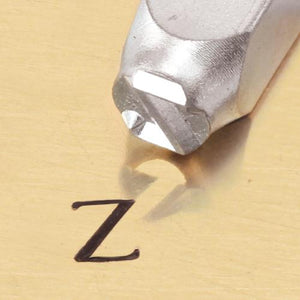 """Greek-Zeta-Sign"" 1/4""-6mm-Large Stamp-Punch-Metal-Steel-Gold & Silver Bars"