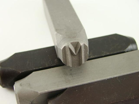 "1/2"" Letter ""M"" Stamp-Punch-Hand-Tool-Gold Bar-Silver-Trailer-Metal-Leather"