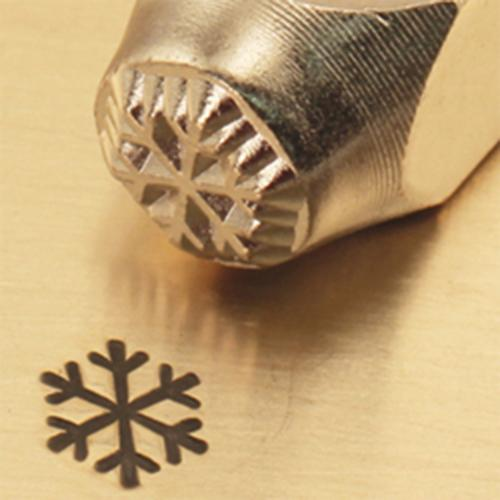 """Winter Snow Flake""1/4""-6mm-Large Stamp-Punch-Metal-Steel-Gold & Silver Bars"