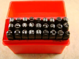 "1/8""  3MM Letter Punch Stamp Set  Metal-Steel-Hand A-Z -Trailer-serial-Bars"