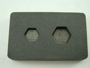 1/4 oz & 1/2oz Gold Bar High Denisty Graphite Hexagon Mold Combo Copper