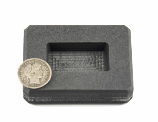 2 oz Gold Bar High Density Graphite Mold-1 oz Silver Bar Ingot Loaf Copper