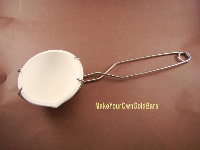 "3-1/2"" Crucible Dish & Tong Set -Gold Recovery-Melting-Silver-Copper-Lead-Large"