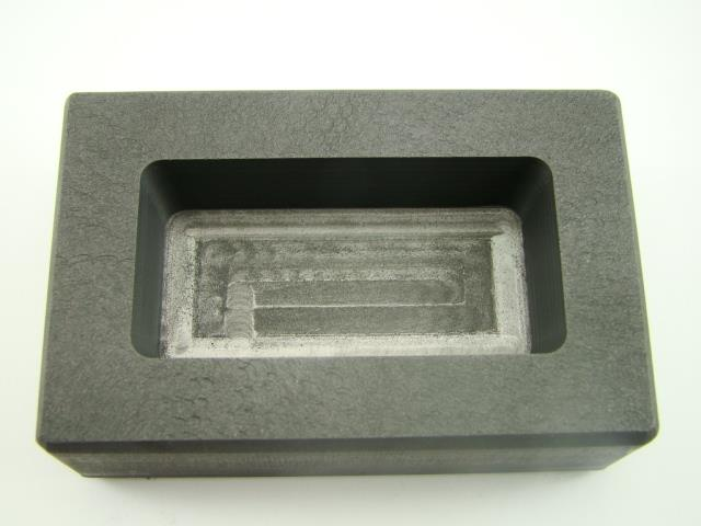 250 Gram Silver Bar High Density Graphite Ingot Mold Loaf Style 1/4 Kilo