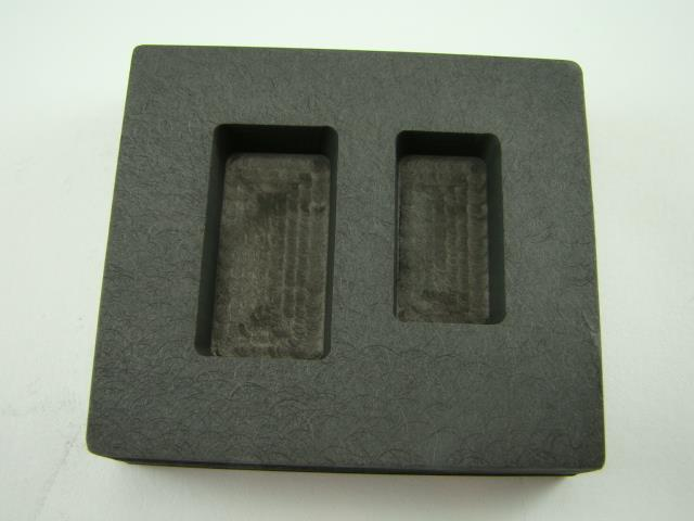 1 oz & 2 oz Gold Bar High Density Graphite Mold Combo Loaf Silver Copper 2Cavity